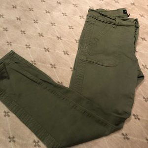 Army green jeans from Banana Republic. Skinny Fit